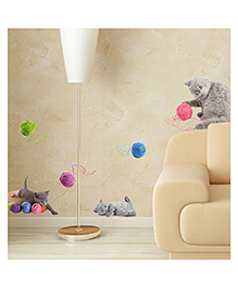 Home Decor Line Playful Cats Wall Sticker - Multi Color