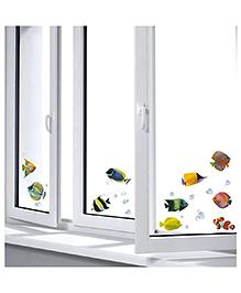 Home Decor Line Fish Theme Wall Sticker - Multi Color