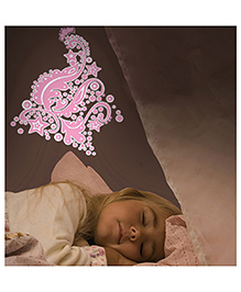 Home Decor Line Glow In Dark Fairies Wall Sticker - Pink Navy