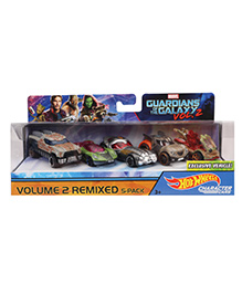 Hot Wheels Character Cars Pack Of 5 - Multicolor