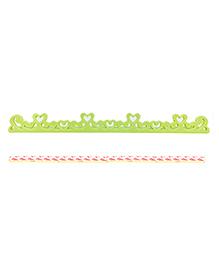 Safe-O-Kid Heart Shape Designer Edge Guard Green - Pack Of 4