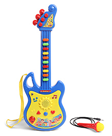 Smiles Creation Musical Guitar With Microphone - Blue