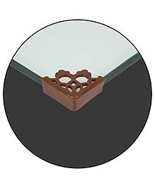 Safe-O-Kid Designer Large Corner Caps Pack Of 4 - Brown