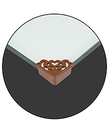 Safe-O-Kid Designer Small Corner Caps Pack Of 4 - Brown