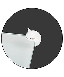 Safe-O-Kid Cartoon Face Corner Caps Pack Of 12 - White