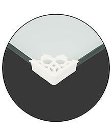 Safe-O-Kid Designer Large Corner Caps Pack Of 16 - White