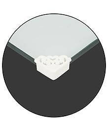 Safe-O-Kid Designer Small Corner Caps Pack Of 16 - White