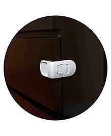 Safe-O-Kid L-Shaped Child Safe Drawer Lock Pack Of 1 - White