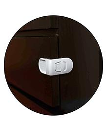 Safe-O-Kid L-Shaped Child Safe Drawer Lock Pack Of 8 - White