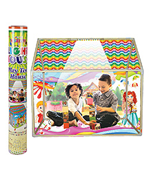 NHR Kids LED Light Play Tent House With Wheels - Multicolor