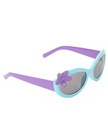Babyhug Kids Sunglasses With Flower - Purple Aqua