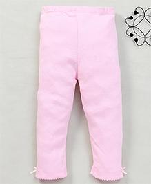 Yiyi Garden Solid Pattern Leggings - Light Pink