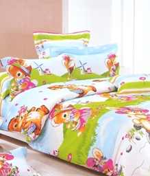Valtellina 1 Single Bedsheet & 1 Pillow Cover JCD-23_S