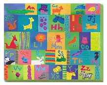 Animal Alphabet - Wall Hanging Rectangle