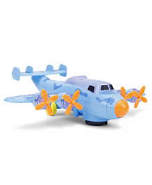 Playmate Battery Operated New Bump And Go Air Plane - Sky Blue