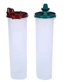 Signoraware Cylindrical 1Containers Set Of 2 Assorted Colors 716 - 1.1 Liter