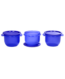 Signoraware 3 Star Cylindrical Bowl Container Set Of 3 Violet - 700 Ml