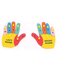 Alpaks Left Hand And Right Hand Puzzle Multicolour - 12 Pieces