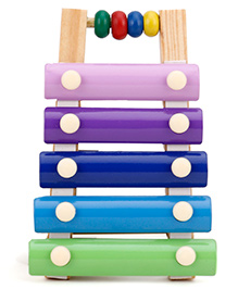 Alpaks Wooden Tiny Xylophone - Multi Color
