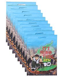 Ben 10 D Cut Bag Combo Set Pack Of 10 - Blue