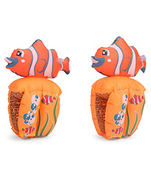 Bestway Little Fish Inflatable Roll Up Arm Bands - Orange