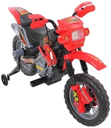 Fab N Funky Battery Operated Motocross Bike - Red