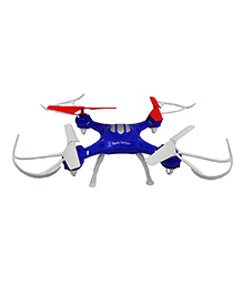 Emob 4 Channel Quadcopter Headless Mode 2.4ghz Gyro Drone - White Blue