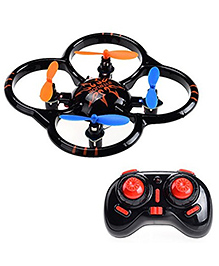 Emob Biomimetic Design Radio Control Mini Quadcopter 6 Axis Gyro Drone - Black