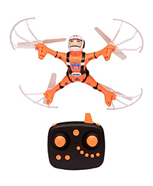 Emob Warrior 4 CH Remote Control Quadcopteer 6 Axis Gyro 360 Degree Eversion Drone - Orange White Black