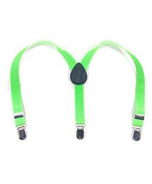 Kidofash Solid Suspenders - Green