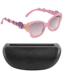 Kidofash Butterfly Design Sunglasses With Hard Case - Light Pink
