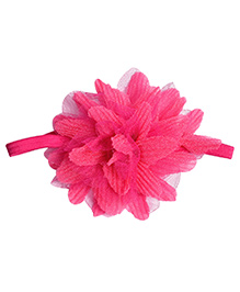 Miss Diva Super Soft Net Flower Headband - Magenta