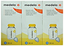 Medela Breast Milk Bottle 150 ml - Set of 3