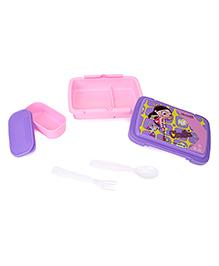 Chhota Bheem Lunch Box Chutki With Hokey Stick - Pink Purple