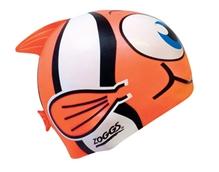 Zoggs Junior Fish Design Silicon Cap - Orange