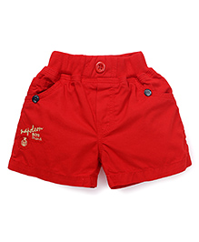 Olio Kids Embroidered Shorts - Red