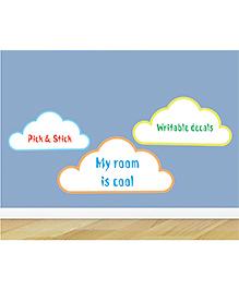 Little Jamun Clouds Wall Sticker - Blue