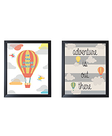 Little Jamun Make Adventure With Hot Air Wall Sticker - Multi Color