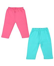 Colorfly Full Length Leggings Pack of 2 - Pink Sea Green
