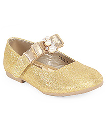 Doink Party Wear Bellies With Embellishment - Golden