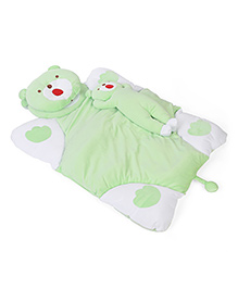 Baby Bedding Set Bear Design Set Of 3 - Green