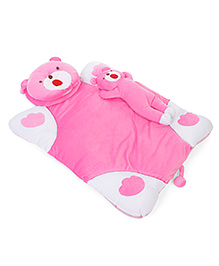 Baby Bedding Set Bear Design Set Of 3 - Pink