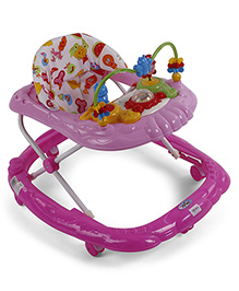 Musical Baby Walker With Play Tray - Purple