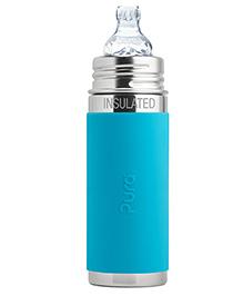 Pura Vaccum Insulated Sippy Cup Feeding Bottle Aqua - 260 Ml