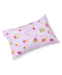 Baby Pillow Rectangle Shape Ice Cream With Star Print - Pink