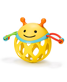 Skip Hop Explore And More Roll Around Bee Rattle Toy - Yellow