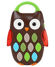 Skip Hop Baby Explore And More Owl Shape Musical Mobile Phone Toy - Brown Green Red