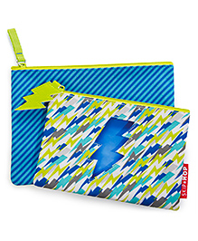 Skip Hop Forget Me Not Lightning Bolt Accessory Pouches Set Of 2 - Green Blue