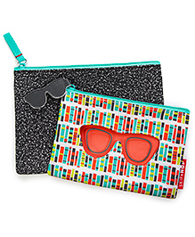 Skip Hop Forget Me Not Specs Design Pouches Set Of 2 - Multi Color