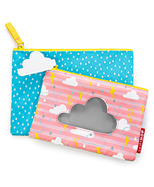 Skip Hop Forget Me Not Cloud Design Pouches Set Of 2 - Blue Pink